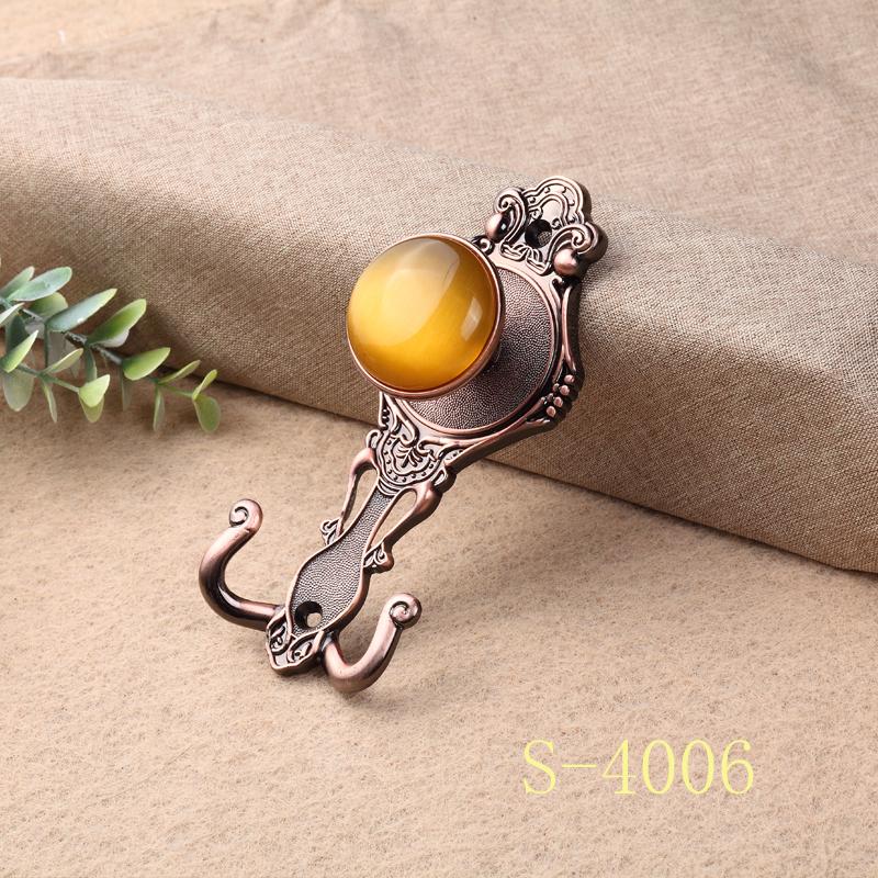 窗帘挂钩、电镀宝石墙钩、单钩窗帘辅料 S-4006