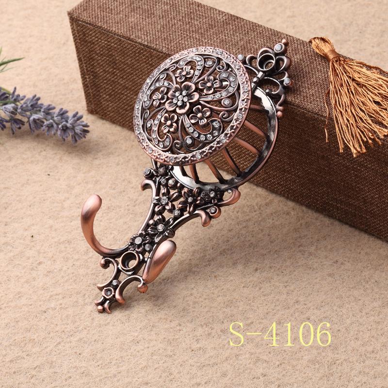 窗帘挂钩、电镀点钻墙钩、单钩窗帘辅料 S-4106