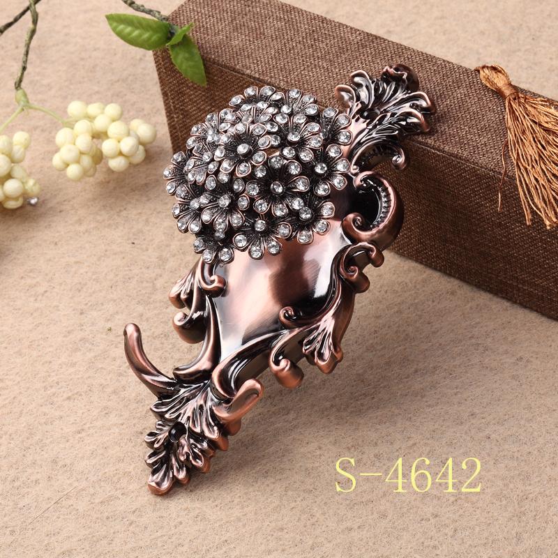 歐式奢華窗簾墻鉤 掛鉤壁勾配件輔料掛球綁帶勾