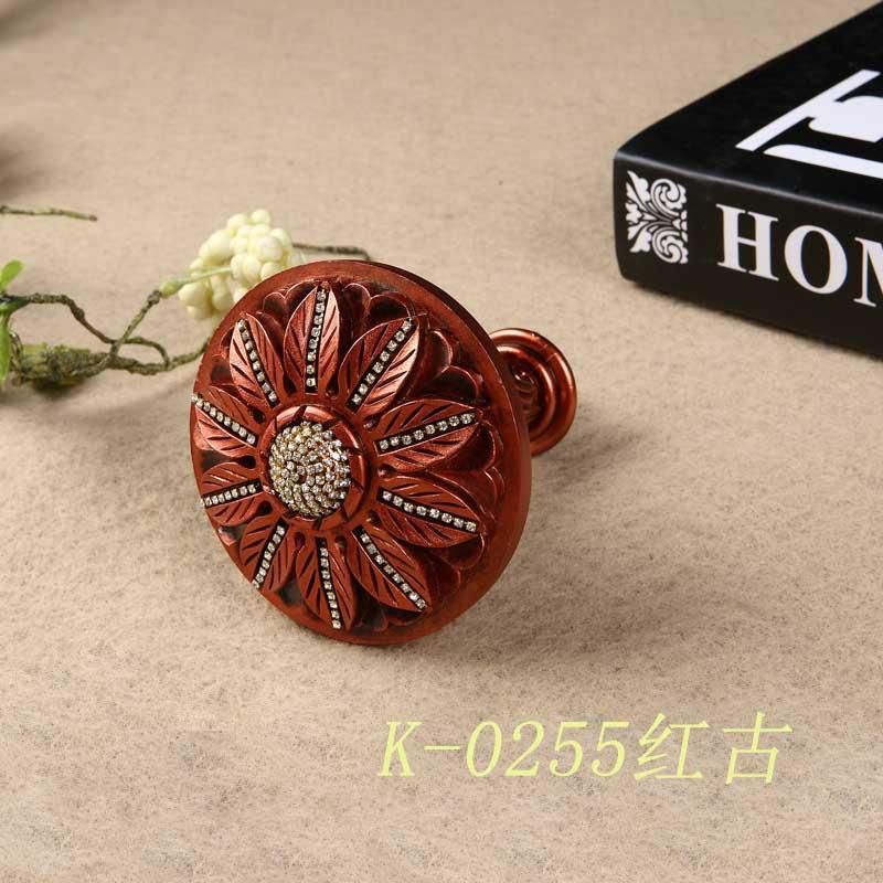 窗艺品牌  欧式系列 窗帘树脂 彩绘墙钩 绑带钩 K-0255红古