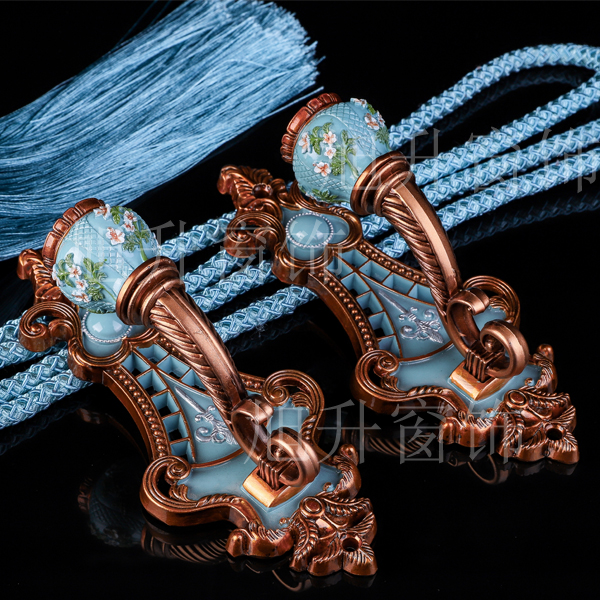 贴花球欧式窗帘挂钩挂球流苏绑绳绑带墙钩装饰辅料配件